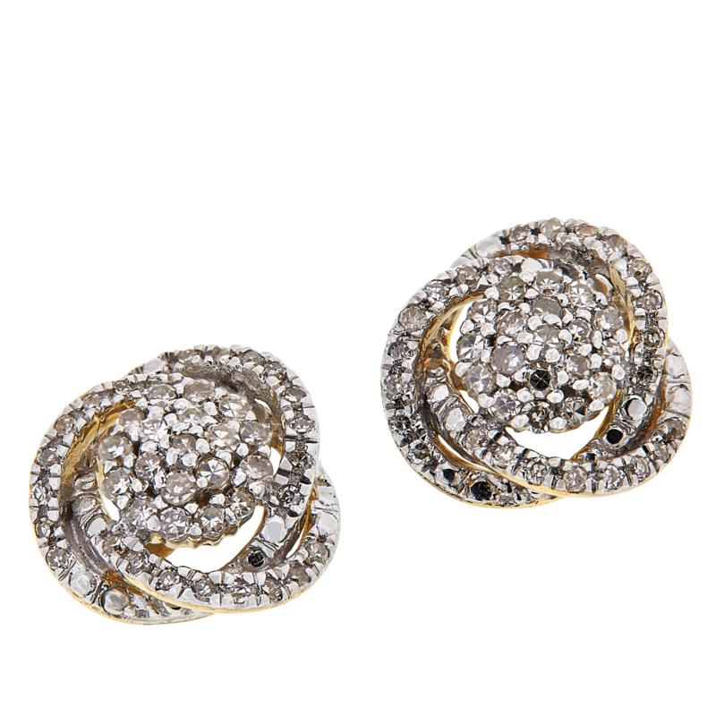 Colleen Lopez 10K Gold .33ctw Diamond Stud Earrings