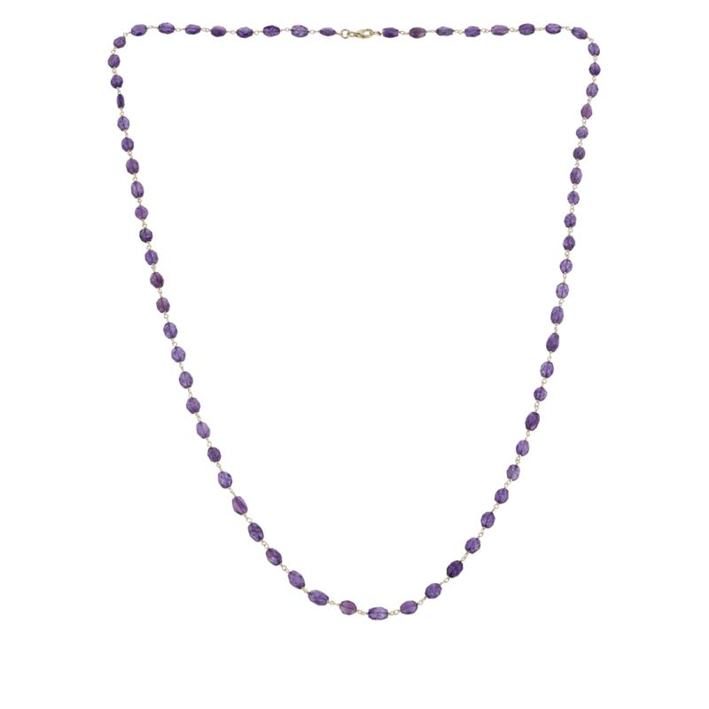 """Colleen Lopez 36"""" Faceted Amethyst Necklace"""