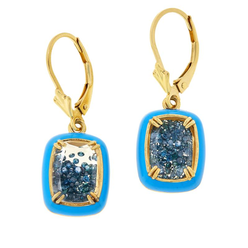 Colleen Lopez Gold-Plated Colored Diamond Shaker Earrings