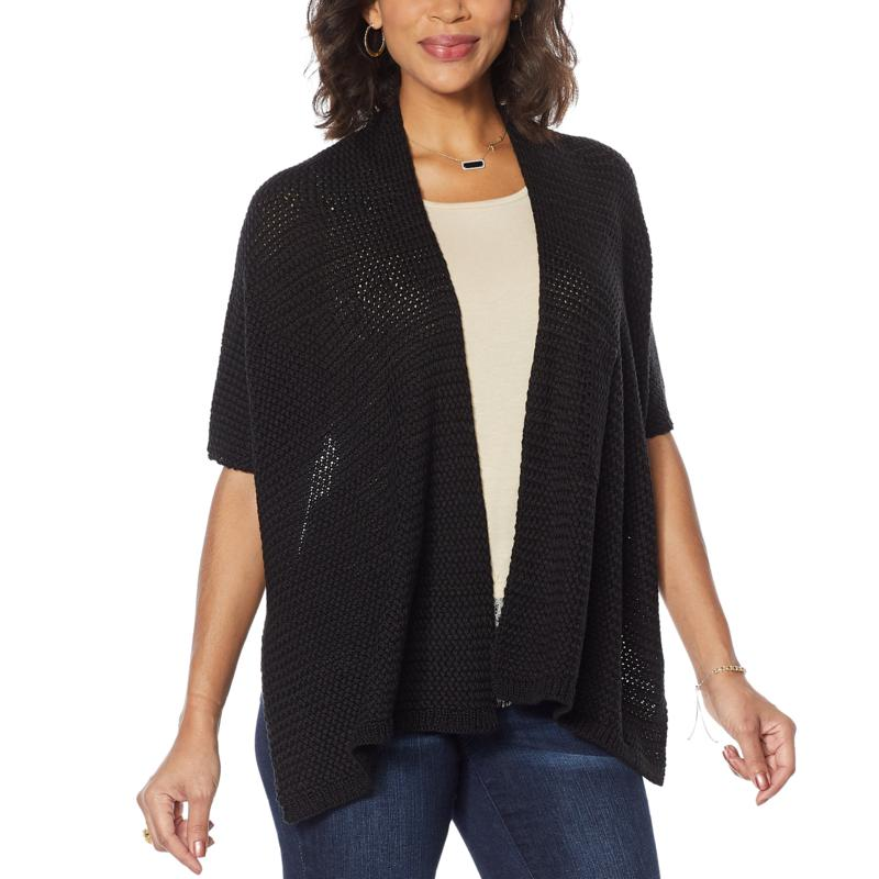 Colleen Lopez Multi-Way Knit Shawl Topper