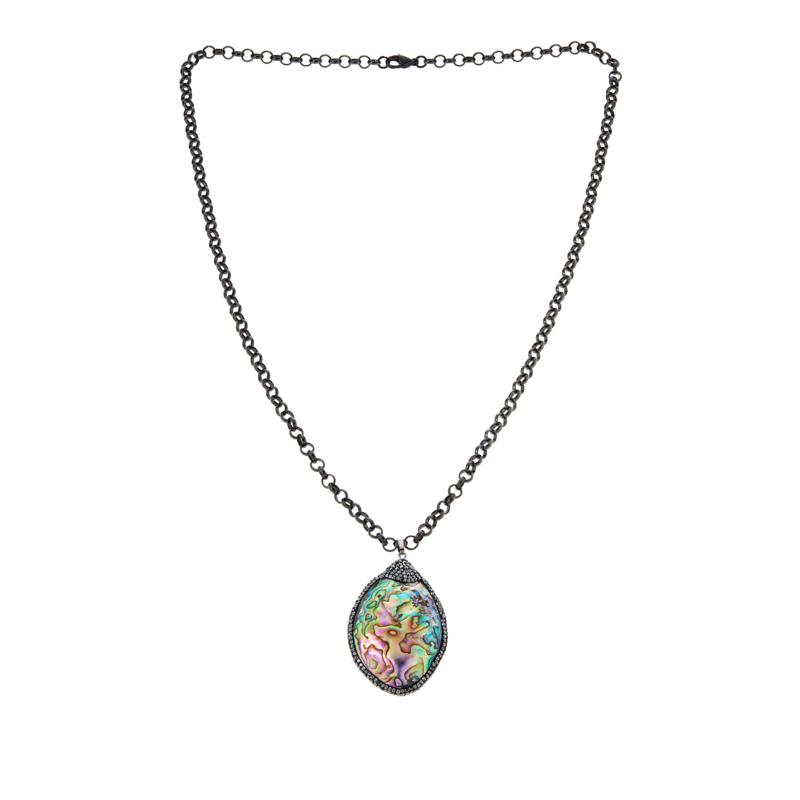 Colleen Lopez Reversible Shell Pendant Necklace