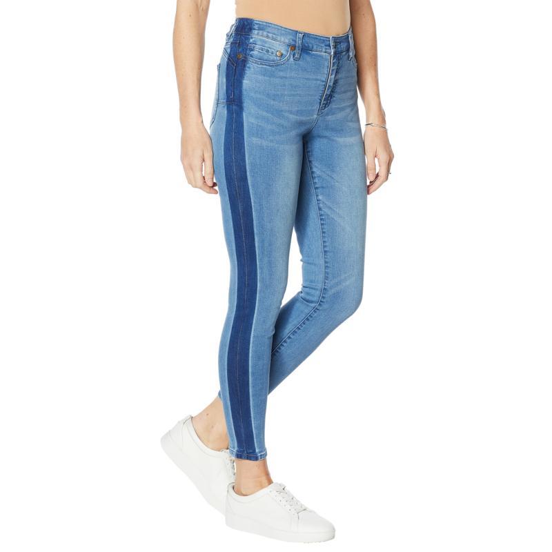 Colleen Lopez Shadow Stripe Skinny Jean