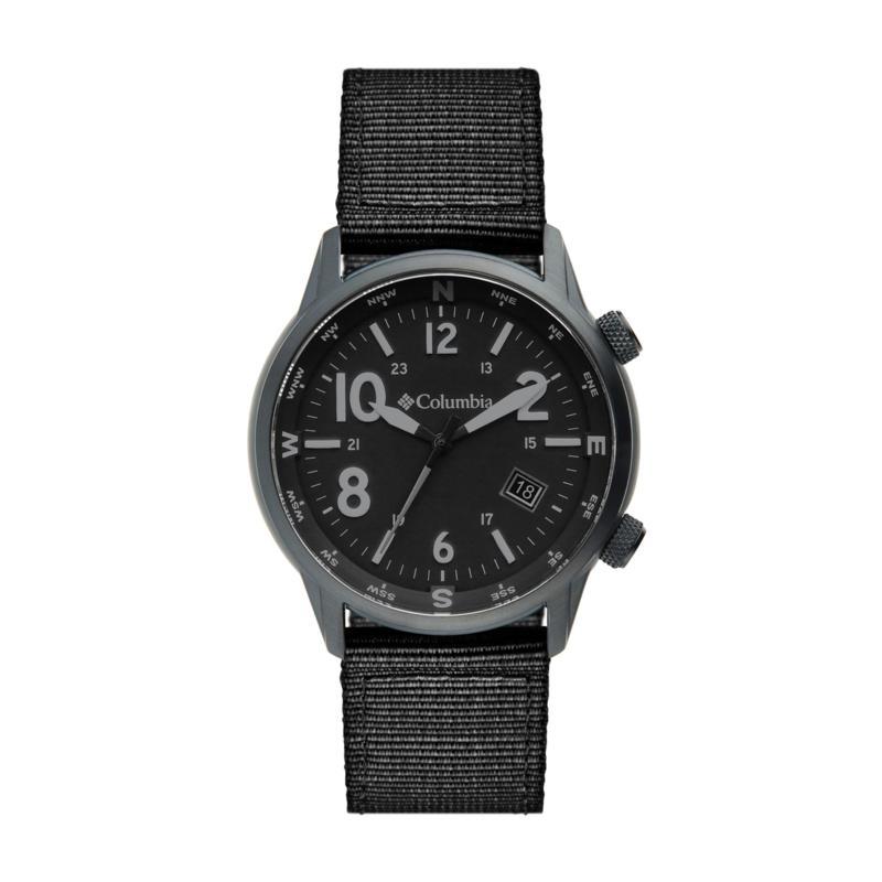 """Columbia """"Outbacker"""" Men's Black Nylon Strap Watch"""