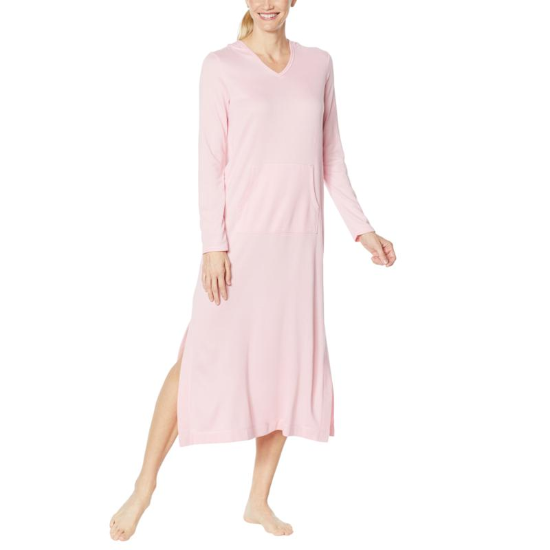 Comfort Code Brushed Ultra Knit Long-Sleeve Hooded Lounger