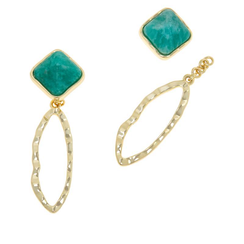 Connie Craig Carroll Jewelry Brooke Gemstone Convertible Drop Earrings