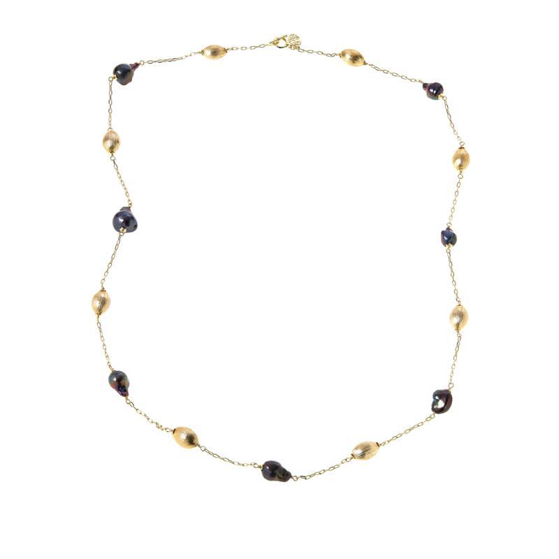 "Connie Craig Carroll Jewelry Caroline 36"" Baroque Station Necklace"