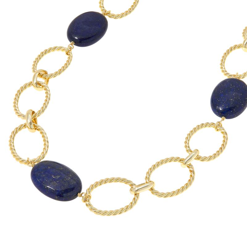 Connie Craig Carroll Jewelry Claire Lapis Twisted Rope Necklace