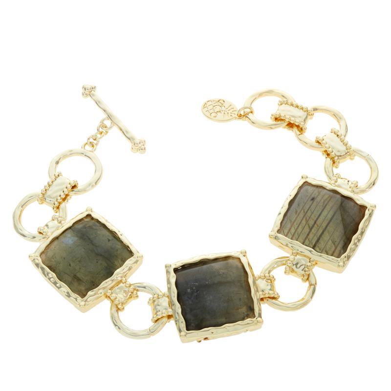 Connie Craig Carroll Jewelry Josephine Labradorite Square Bracelet