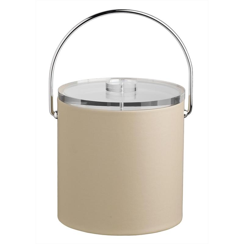 Contempo Tall 3qt Leatherette Ice Bucket with Clear Lid