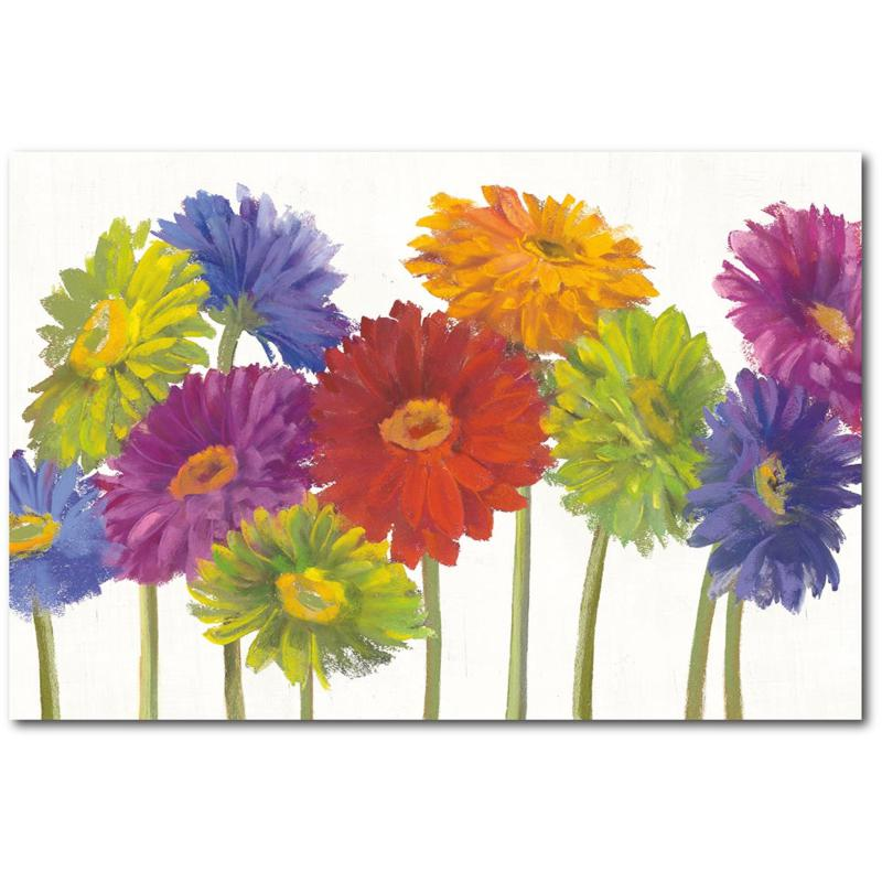 """Courtside Market Colorful Gerbera Daisies Canvas Wall Art - 18"""" x 26"""""""