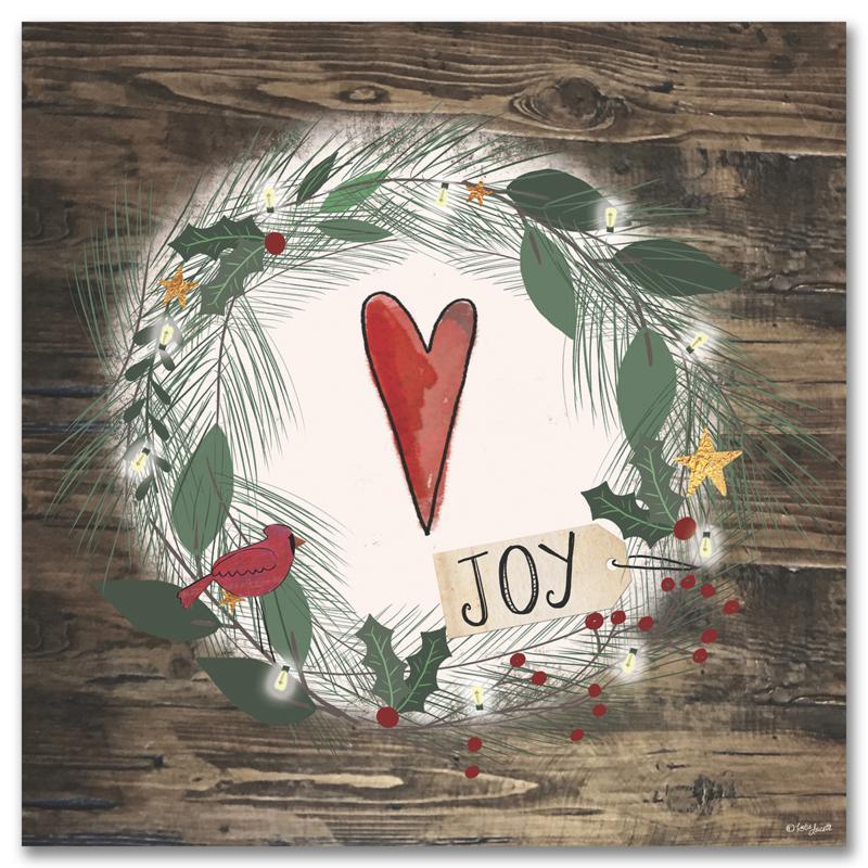 Courtside Market Holiday Love 14x14 Wood Art