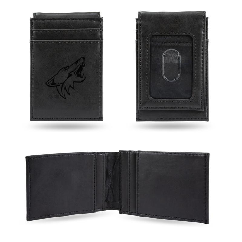 Coyotes Laser-Engraved Front Pocket Wallet - Black