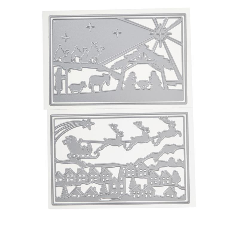 Crafter's Companion Gemini Create-A-Card Classic Christmas Die 2-pack