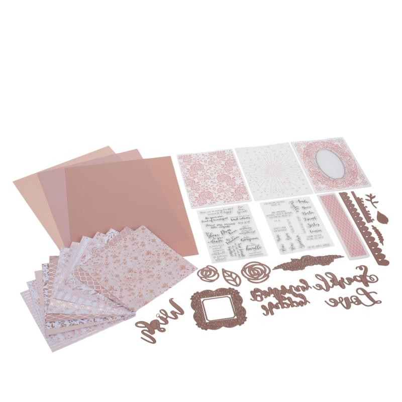 Crafter's Companion Rose Gold Papercraft Kit