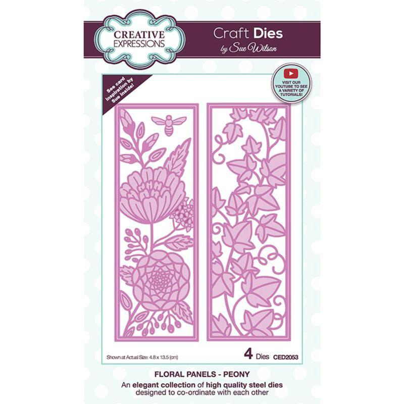Creative Expressions Sue Wilson Floral Panels Peony Craft Die