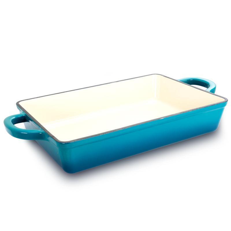 """Crock Pot Zesty Flavors  13"""" Lasagna Pan in  Teal Ombre"""