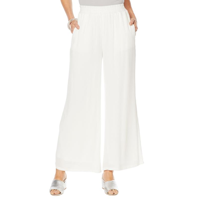 Curations White Gauze Pant