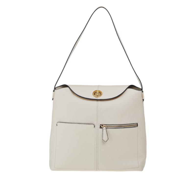 Danielle Nicole Leather Hobo with Lock and RFID Technology