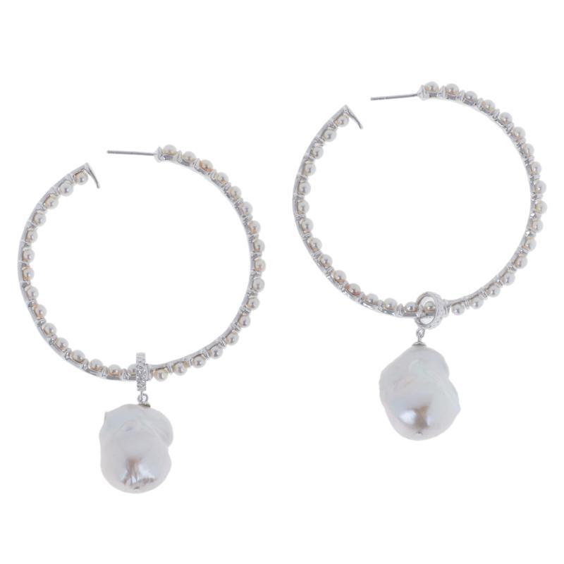 Deb Guyot Studio Convertible Cultured Pearl Hoop Earrings