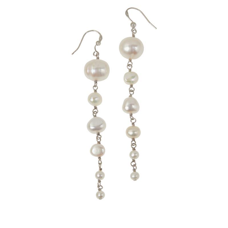 Deb Guyot Studio Descending Cultured Freshwater Pearl Drop Earrings