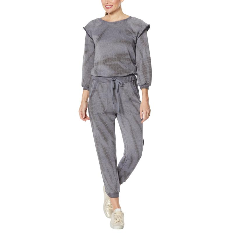 Democracy Tie Dye French Terry Knit Jogger Jumpsuit