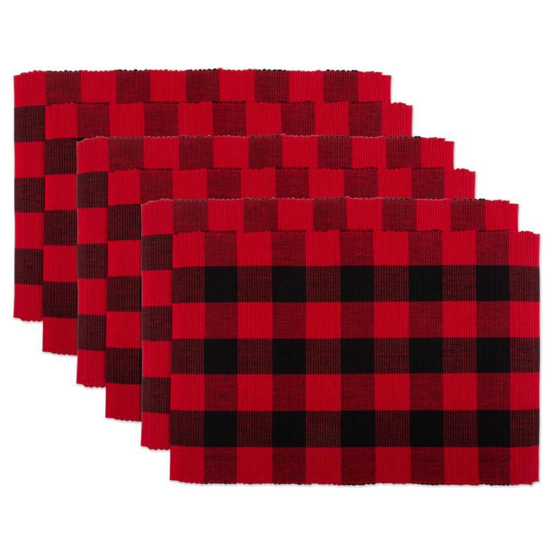 Design Imports 6-pack Buffalo Check Ribbed Placemats