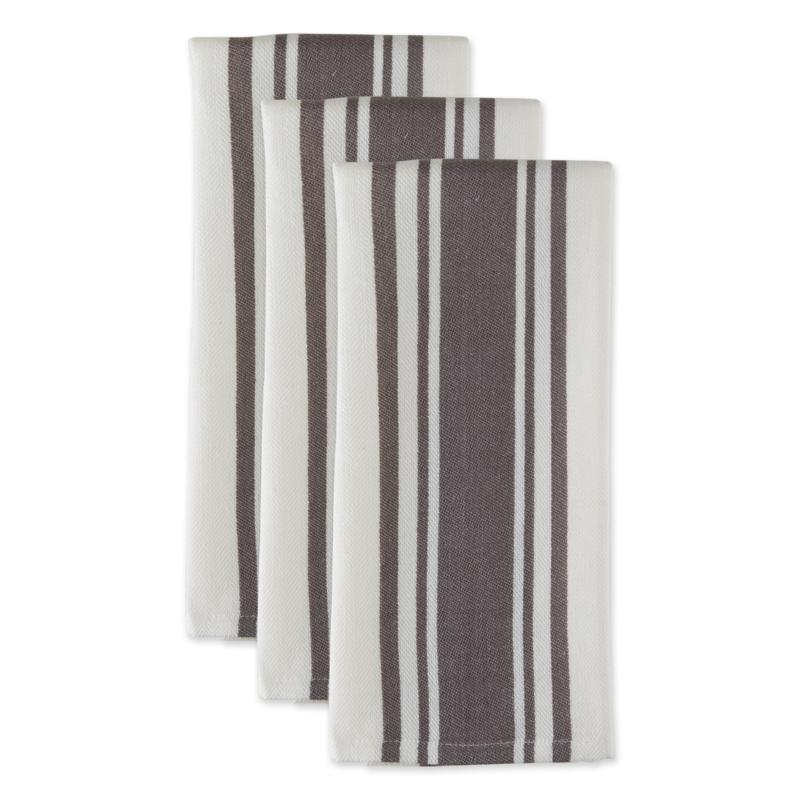 Design Imports Chef Stripe Kitchen Towels 3-pack