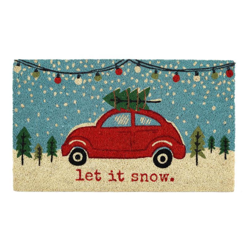 Design Imports Christmas Car Doormat