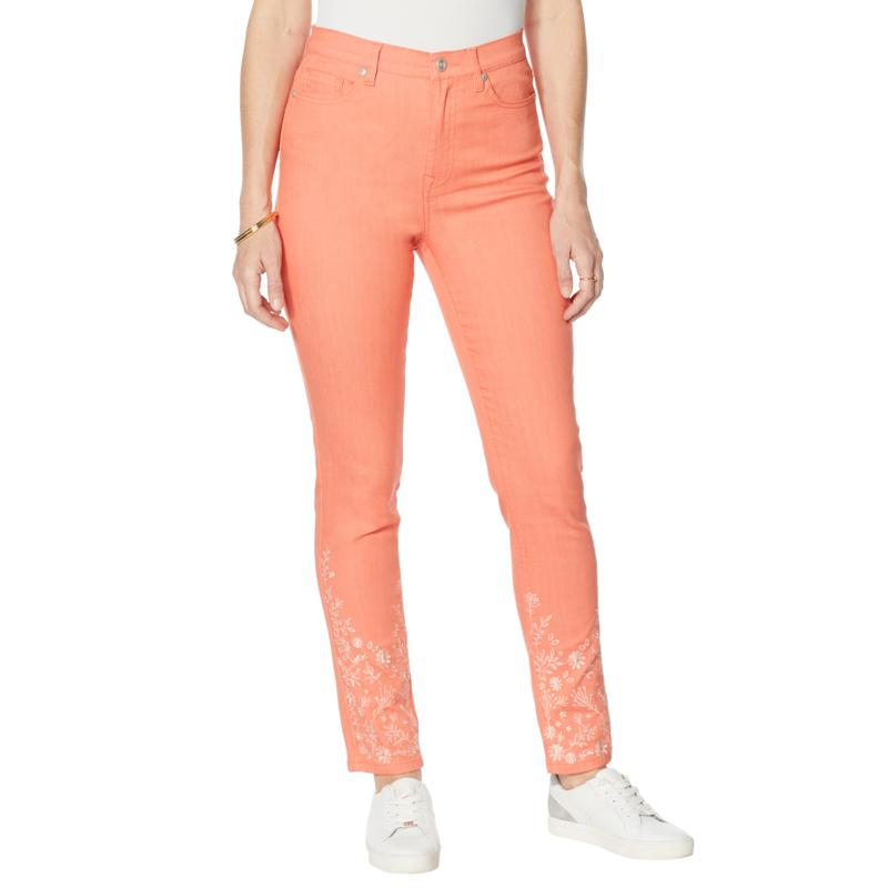 DG2 by Diane Gilman Classic Stretch Eyelet Embroidered Skinny Jean