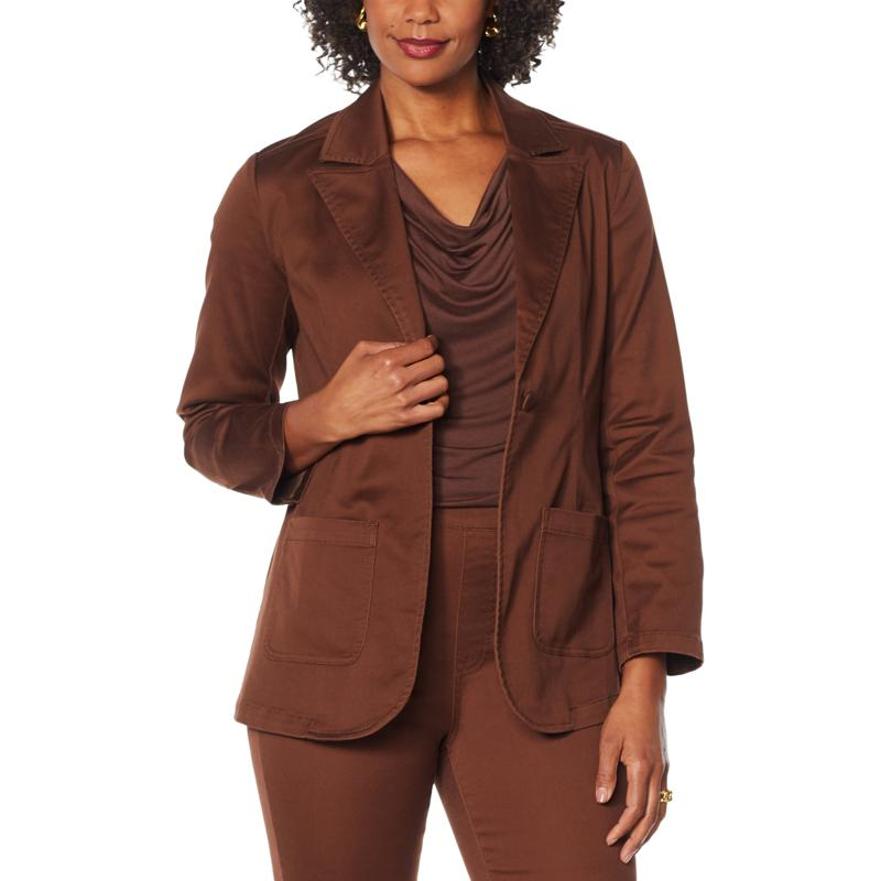 DG2 by Diane Gilman FLEXstretch Tailored Blazer