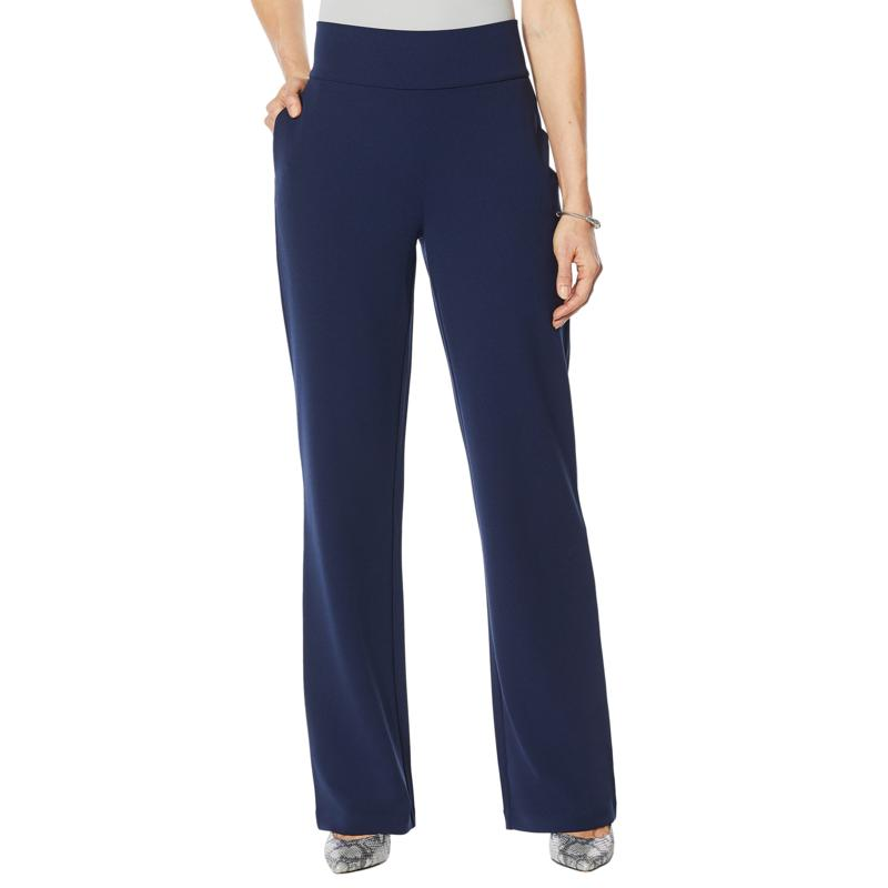 DG2 by Diane Gilman Wrinkle-Resistant Stretch Crepe Pull-On Trouser