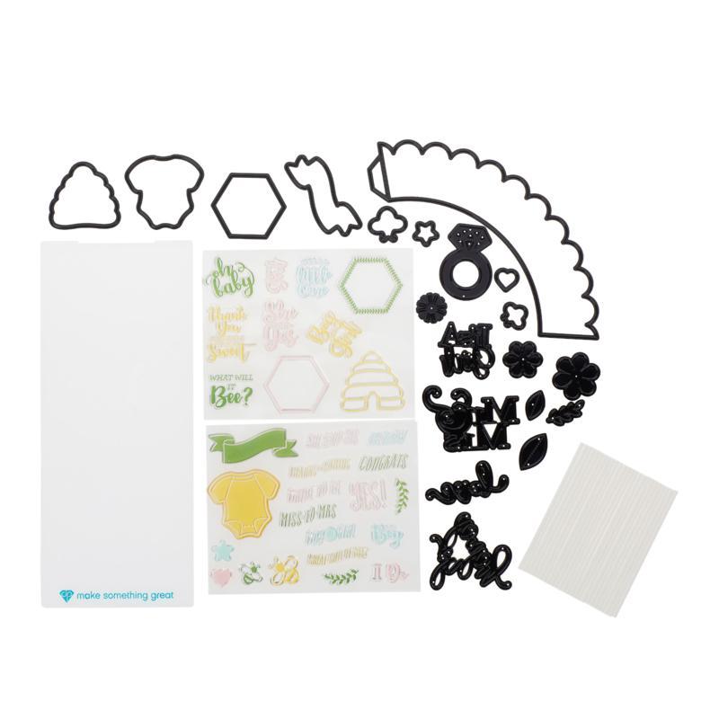 Diamond Press Bridal/Baby Showers Cupcake Stamp and Die Set