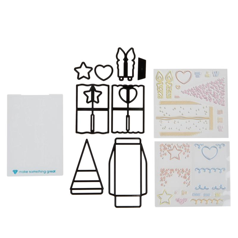 Diamond Press Dimensional Cake Box Stamp and Die Set