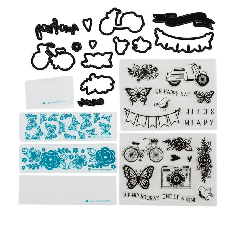Diamond Press Happy Day Stamp and Die Kit