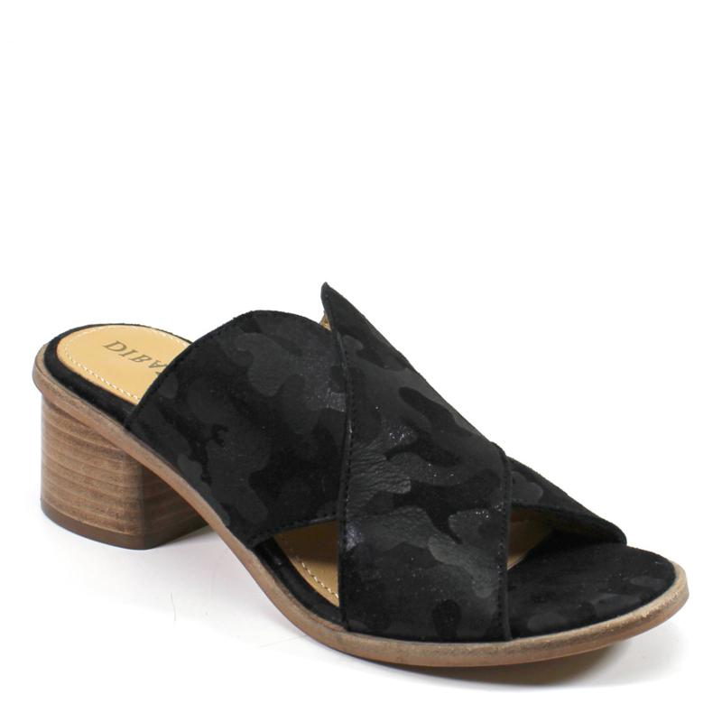 Diba True Block End Suede Slide Sandal