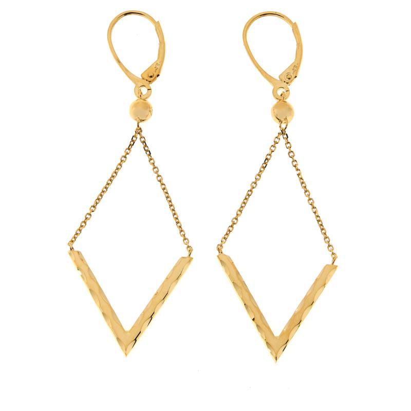 Dieci 10K Gold Diamond-Shaped Dangle Earrings