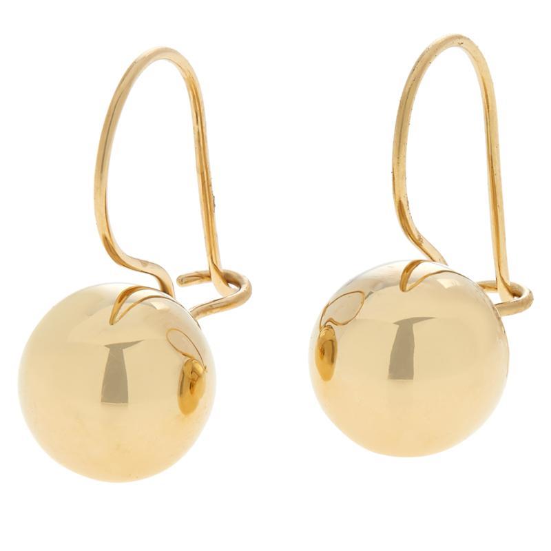 Dieci 10K Gold Polished Bead Drop Earrings