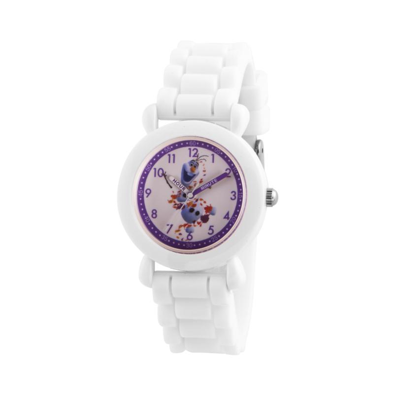 Disney Frozen 2 Olaf Kids' White Time Teacher Watch with White Strap