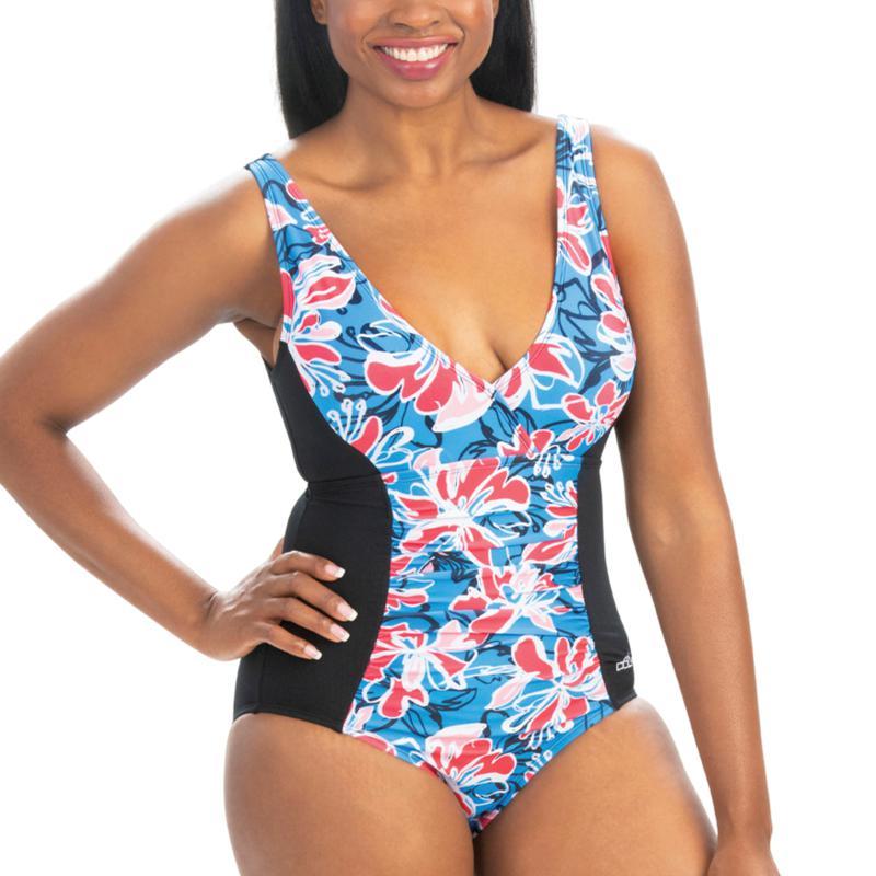 Dolfin Aquashape Wildflowers-Print Front Panel One-Piece Swimsuit