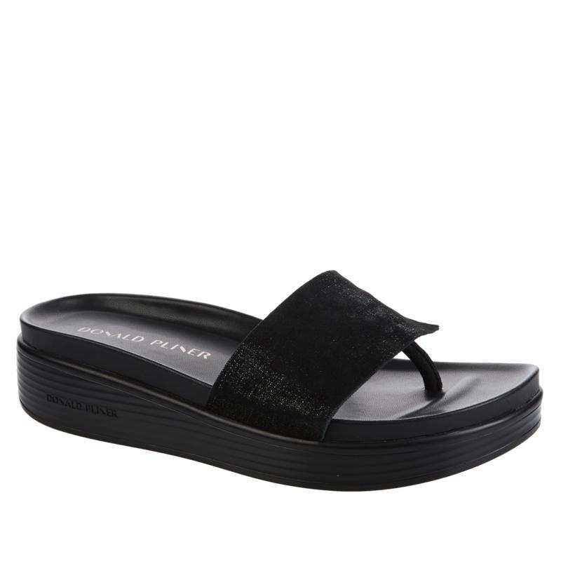 Donald J. Pliner Fifi Leather Platform Thong Sandal