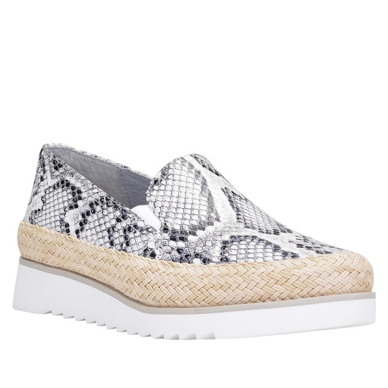 Donald J. Pliner Finni Leather Snake Print Slip-On Sneaker