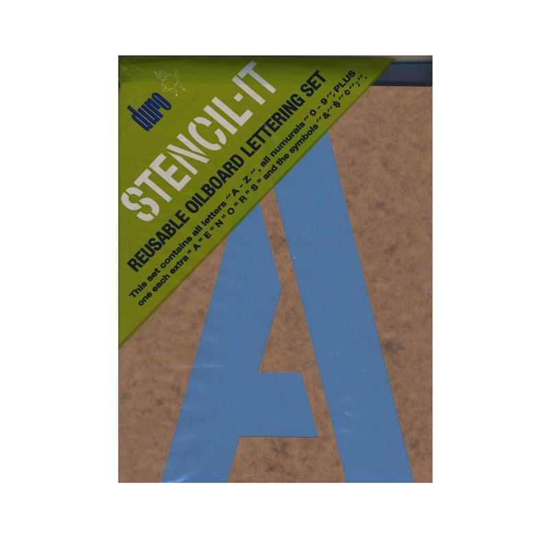 Duro Stencil-It Reusable Oilboard Lettering Sets 10 x 6