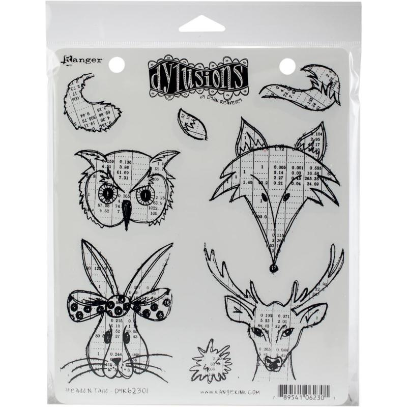 Dyan Reaveley's Dylusions Cling Stamp Collections 8.5X7 - Heads Tails