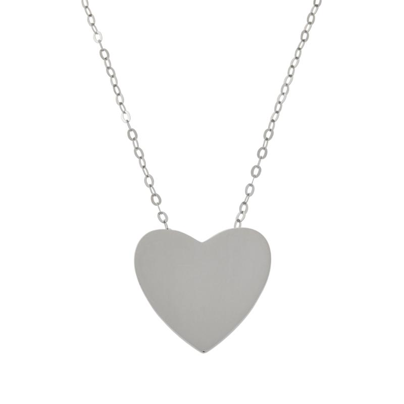 ELLE Sterling Silver Polished Heart Necklace