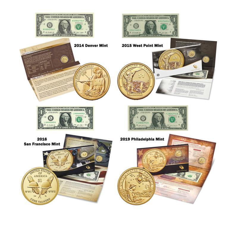 Enhanced Uncirculated Native American Mint Mark Set