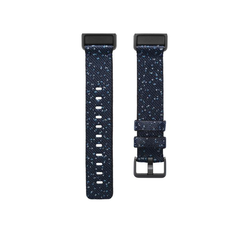 FitBit Charge 4 Large Woven Band in Midnight