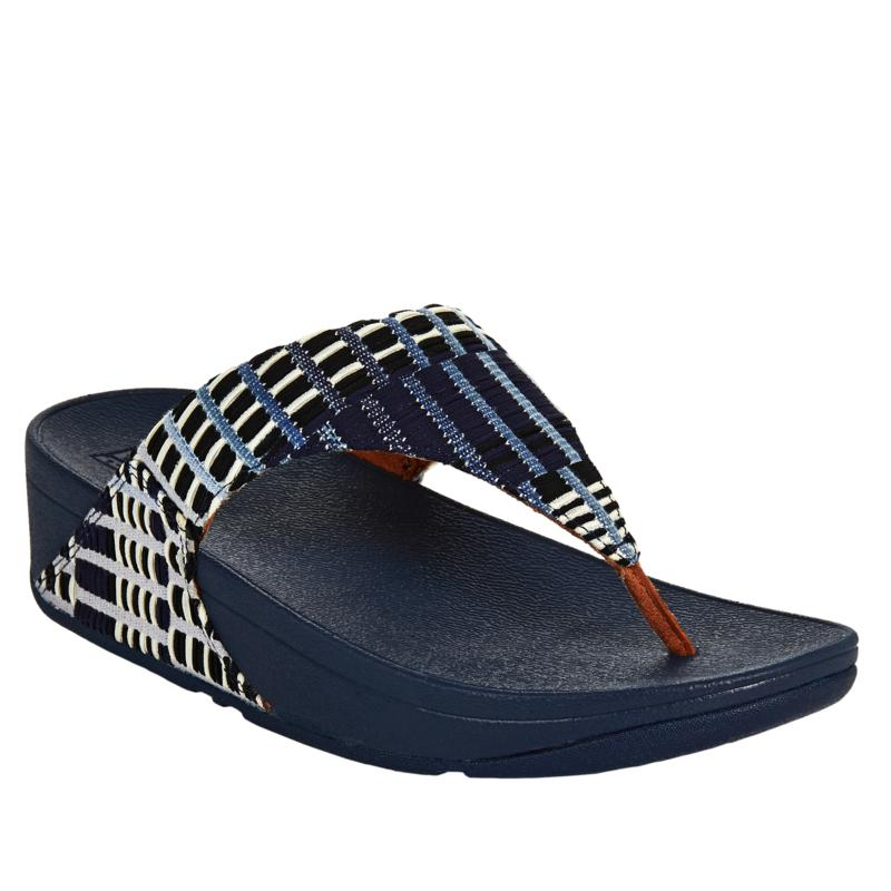FitFlop Lulu Art Denim Toe Post Sandal