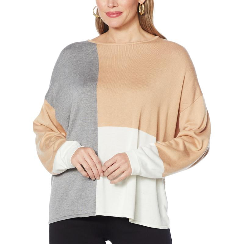 G by Giuliana Colorblocked Knit Sweater