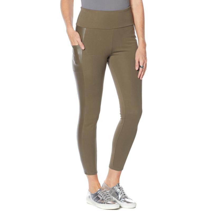 G by Giuliana G-Sculpt Faux Leather and Ponte Legging