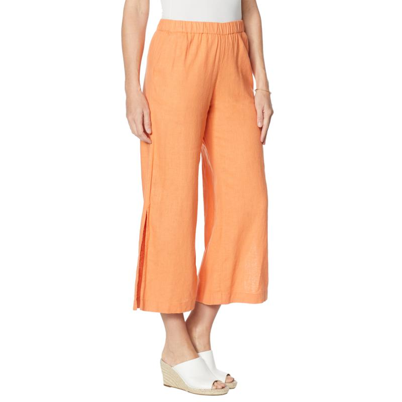 G by Giuliana Pull-On Linen Crop Pant